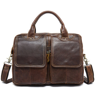 Genuine Leather Vintage 14 Inches Laptop Bag