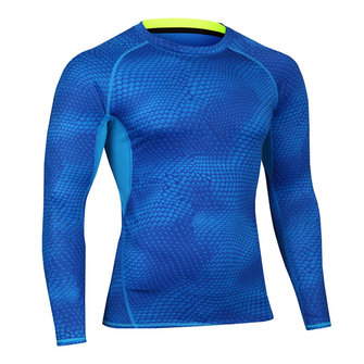 Mens Training Fitness Tight Quick Drying T-shirt Elastic Compression Long Sleeve Sportswear