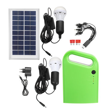 Portable Home Outdoor DC Solar Panels Charging Generator Power Generation System