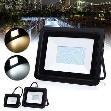 10W 30W 50W Waterproof Outdooors LED Ultra Thin Flood Spotlight Landscape Garden Yard Lamp AC220-240V
