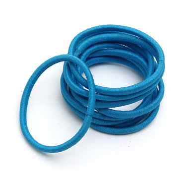 10Pcs Girls Women Candy Color Elastic Hair Bands Rope Ties