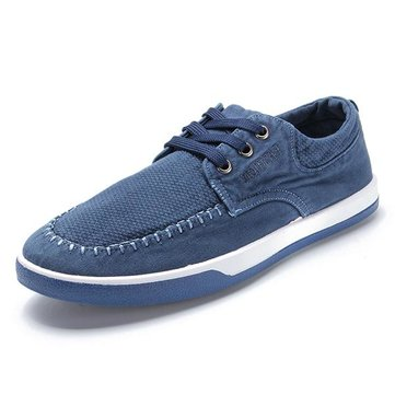 Men Casual Outdoor Canvas Comfortable Breathable Fashion Lace Up Flats Sneakers Shoes