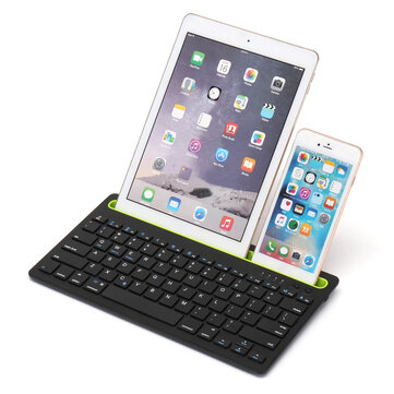 Wireless bluetooth 3.0 Keyboard Stand Holder For iPhone/iPad/Macbook/Samsung/iOS/Android/Windows