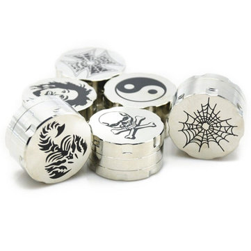 42mm 3 Piece Tobacco Herb Grinder Metal Spice Crusher Zinc Alloy Pollen Catcher Smoking Accessories