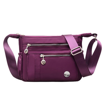 Women Nylon Multi-pockets Crossbody Bag Shoulder Bag