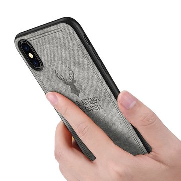 Bakeey Vintage Anti Fingerprint Leather Protective Case For iPhone XS/X