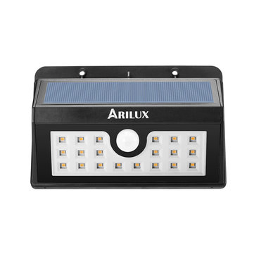 ARILUX® AL-SL 05 Wireless Solar 20 LED Waterproof PIR Motion Sensor Outdoor Warm White Wall Light