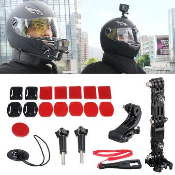 Accessory Kit Helmet Jaw Adjustable Arm Mount Holder for Gopro 6/5/4 Motorcycle