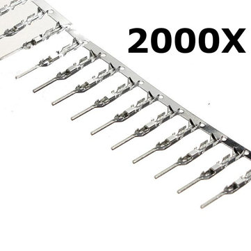 2000 Pcs 2.54mm Dupont Jumper Wire Cable Male Pin Connector Terminal