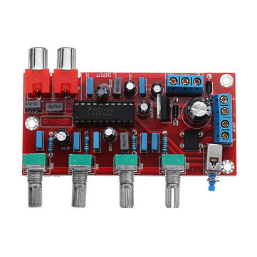 LM1036 Luxurious HIFI Amplifier Preamplifier Volume Control Tone Board DC 15V AC 12V Or 15V 1000UF