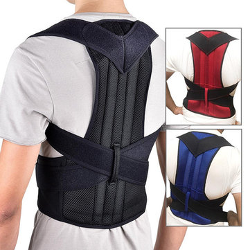 Xmund Back Support Protection Back Shoulder Posture Pain Relief Correctorbelt Strap Reinforcement Orthosis Support Fixation Belt Humpback Correction