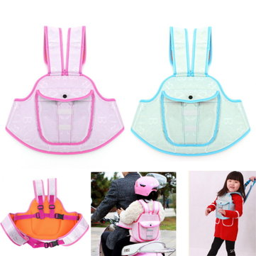 Children Kids Safety Belt Waterproof Safe Strap With Pocket Bag For Motorcycle Electric Bike