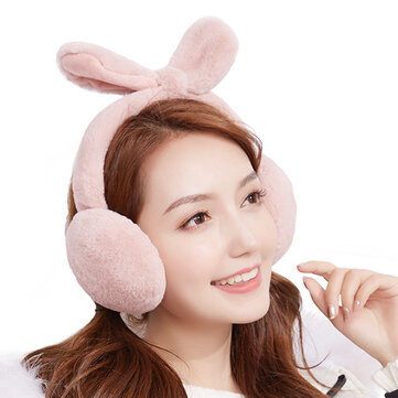 Women Girls Winter Cute Faux Fur Plush Earmuffs