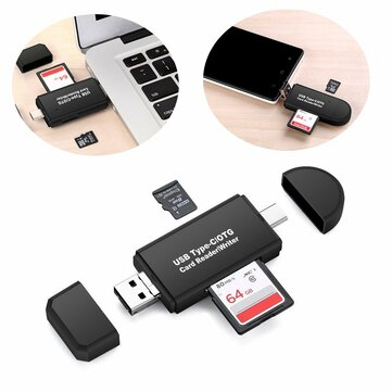 3 in 1 Multifunction Card Reader 480Mbps High Speed Type-c USB 2.0 Micro Usb Tf Memory Card OTG Card Reader