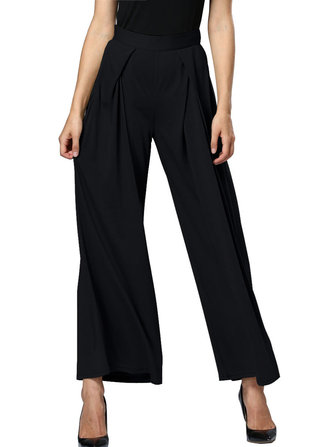 Casual Solid High Waist Loose Women Wide Leg Pants