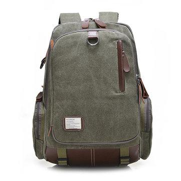 Large Capacity Vintage Canvas Laptop Bag Backpack For Men