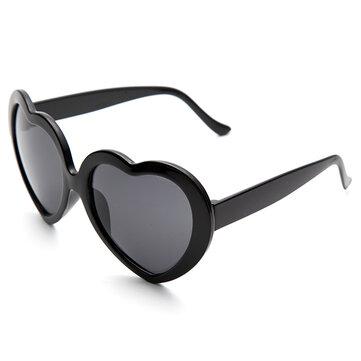 Forma retro coração engraçado do amor anti-UVA e UVB óculos de sol