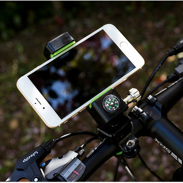 Outdoor 360 Degree Rotatable Bicycle Navigation Holder With Compass LED Light For Mobile Phone