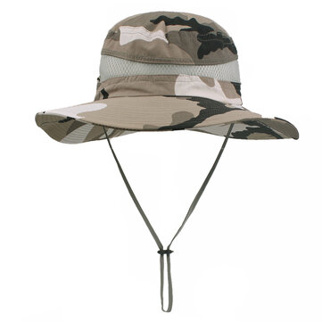 Men Summer Outdoor Breathable Camouflage Fisherman Hat