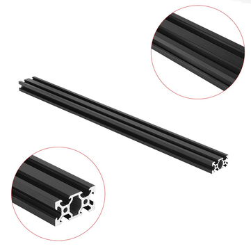 Buy Machifit 500mm 2040 V-Slot Aluminum Profile Extrusion Frame DIY CNC Tool Black for $7.99 in Banggood store
