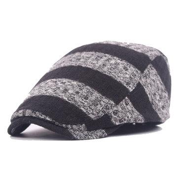 Unisexถักนิตติ้งแถบหมวกBeretหมวกถักนิตติ้งเด็กชายที่ปรับได้BoyNewsboy Cabbie Gentleman