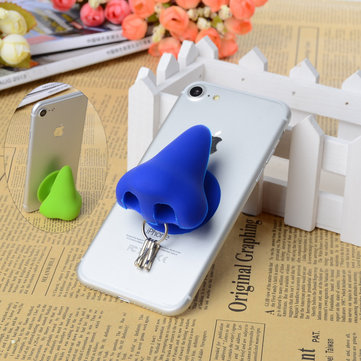 Nose Creative Silicone Sucker Stand Holder Cable Organizer For Smartphone Key Chain Earphone