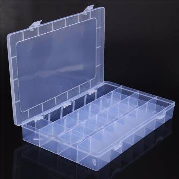 Mini Adjustable Storage Box 23 Slots Compartments Organiser Plastic Case Bead
