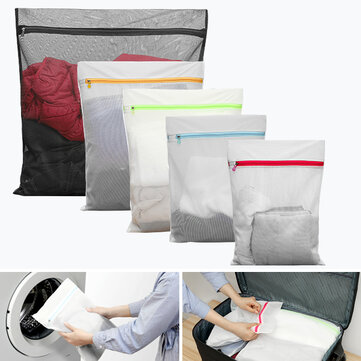 KCASA KC-LB460 5pcs Mesh Laundry Bags Travel Storage Packing Wash Clothes Pouch Luggage Organizer