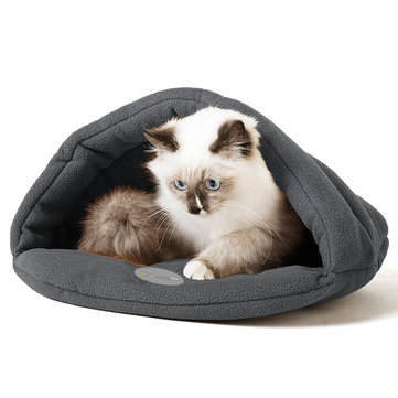 S M L Pet Cat Dog Puppy Nest Bed Soft Warm Cave House Soft Sleeping Bag Mat Pad