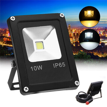10W LED Flood Light Work Lamp DC12V with Car Charger Waterproof For Outdoor Camping Travel Emergency