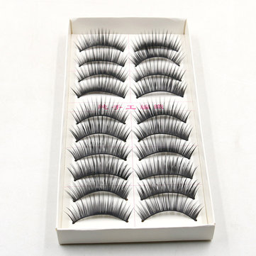 10Pairs Handmade False Eyelashes Extension