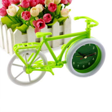 Honana Pastoral Style Trumpet Bike Shape Alarm Clock for Children Kids Bicycle Clocks Home Art Decor
