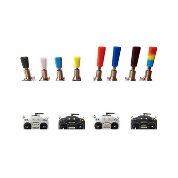 8 PCS Rubber Transmitter Anti-slipping Stick Switch Cap Sheath for Frsky Flysky Futaba JR Radiolink