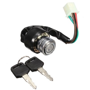 6 Wire Ignition Switch 2 Keys Universal For Car Motorcycle Scooter Bike Quad Go Kart