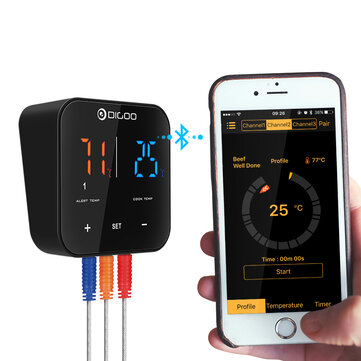 33%Off For Digoo DG-FT2203 Smart Bluetoorh LED & LCD Display Thermometer