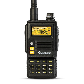 QUANSHENG TG-K4ATUV 128 Channels Mini Two Way Dual Band 400~480MHz Handheld Radio Walkie Talkie