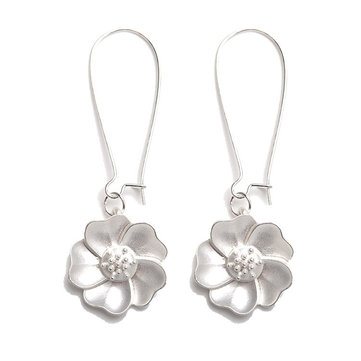 Fashion Jasmine Flower Drop Piercing Earrings for Women