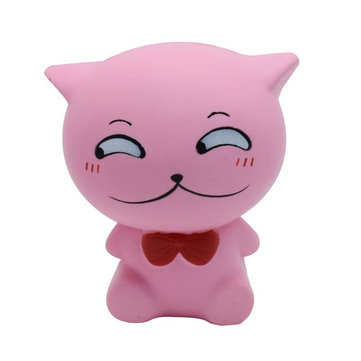 Squishy PU Slow ebound Toy Simulation Bow Tie Cat Decompression Pinch Random Color