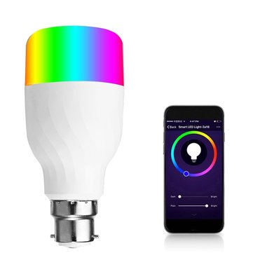 B22 7W RGB+CW WIFI LED Smart Light Bulb Works With Echo Alexa Google Home AC85-265V