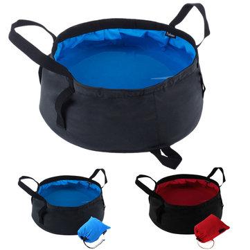 8.5L draagbare openluchtvouwbare opvouwbare kampeerbak water wastafel pot zak
