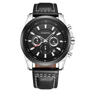 OCHSTINGQ065BritishGentlemanWindMen Montre-bracelet Bussiness Style Quartz Watch