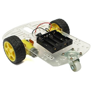 DIY Smart Motor Robot Car Chassis Battery Box Kit Speed Encoder For Arduino