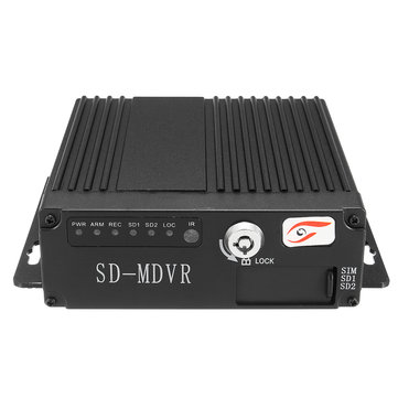 12V 4CH Remote HD Car DVR Real Time Video Recorder SD RV Mobile SW0001A