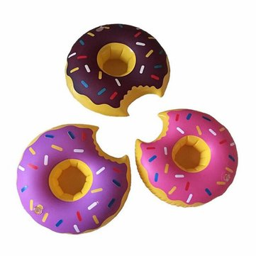 IPRee™ Mini Funny Cookie Shape Ballon Toy Doughnut Inflatable Swimming Pool Beach Bathing Can Holder
