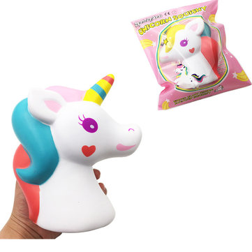SquishyFun Unicorn Horse Squishy 16cm Slow Rising With Packaging Collection Gift Soft Toy