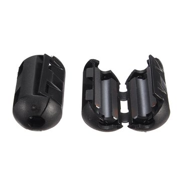 5Pcs 9mm Black Cable Wire Snap Clamp Clip RFI EMI EMC Noise Filters Ferrite Core Case