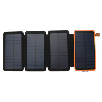 20000mAh Solar Panel Solar Charger 7W 5V/2A Foldable Solar Panel Charger Dual USB Portable Mobile Power Bank
