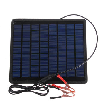 18V 5.5W Portable Solar Panel Power Battery Charger For Car Boat Motorcycle Bike