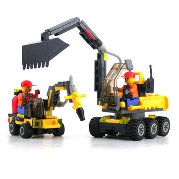 KAZI Building Block Excavator Educational Gift #6092 Fidget Toys 192Pcs