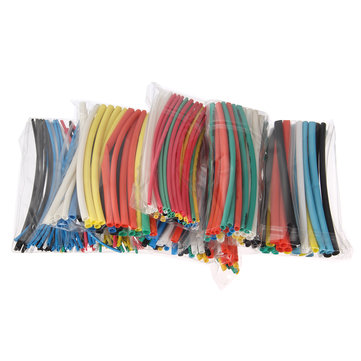 315PCS Flame Retardant Durable 7 Color Assorted Colors Ratio 2:1 Polyolefin Heat Shrink Tubing Tube